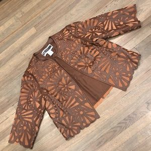 Beautiful Leather Jacket - Laser Cut Details 16W